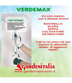 Kit 5 attrezzi con manico TOP SYSTEM - by Verdemax