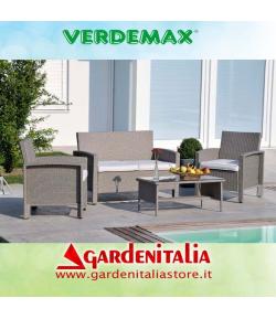 Salotto da giardino mod. Abu Dhabi By Verdemax - colore grigio chiaro