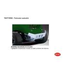 Trattorino BRILL mod. CROSSOVER 92/13 - 92 cm di taglio - cambio meccanico