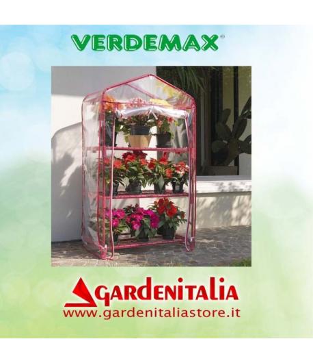 Serra per terrazzo e balcone mod. Azalea Colore Rosso 3 ripiani - Verdemax