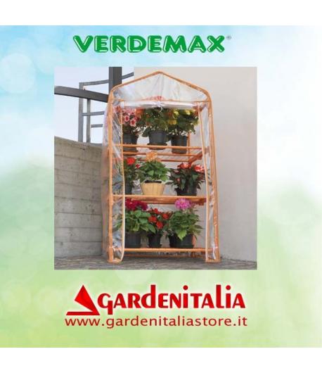 Serra per terrazzo e balcone mod. Azalea Colore Arancione 3 ripiani - Verdemax