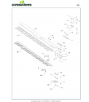 Barra Falciante Bilama cm.102 Busatis per TM 70 - P 70
