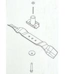 Lama di ricambio per tosaerba GRIZZLY Serie BRM 42 (no Honda, no 360°)