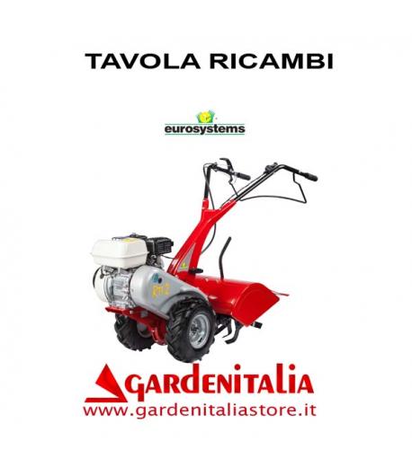 Esploso Ricambi Motocoltivatore Eurosystems RTT 2 Made  in Italy