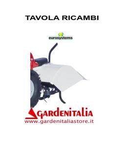 Esploso Ricambi Fresa Eurosystems per P 70 EVO Made  in Italy