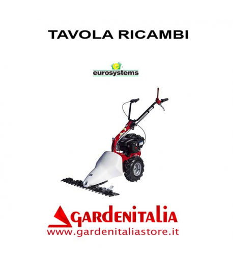 Esploso Ricambi Motofalciatrice Eurosystems M 210 Made in Italy