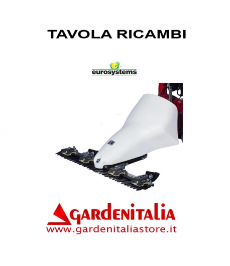 Esploso Barra Falciante Eurosystems P 70 EVO Made in Italy