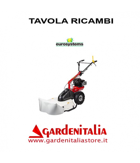 Esploso Ricambi Trinciaerba Falciatutto Eurosystems P 70 EVO Made in Italy