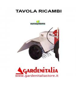 Esploso Ricambi Arieggiatore Prato a Molle Eurosystems P 70  Made in Italy