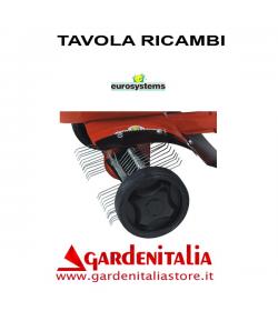 Esploso Ricambi Arieggiatore Prato a Molle Eurosystems  Z2 Made in Italy