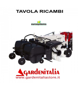 Esploso Ricambi Spazzola Frontale con Raccoglitori Eurosystems P 70 Made in Italy