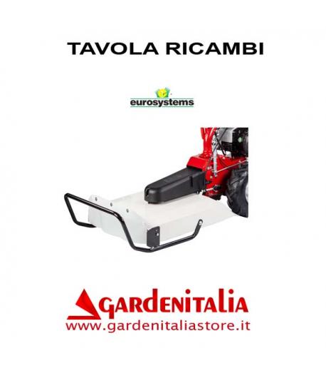 Esploso Ricambi Piatto Falciatutto Eurosystems P70 EVO Made in Italy