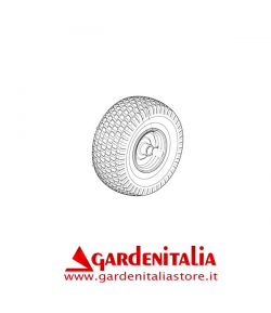 "RUOTA ANTERIORE COMPLETA 15"" TRATTORINO CASTELGARDEN GGP TC/TCJ CARLISLE"